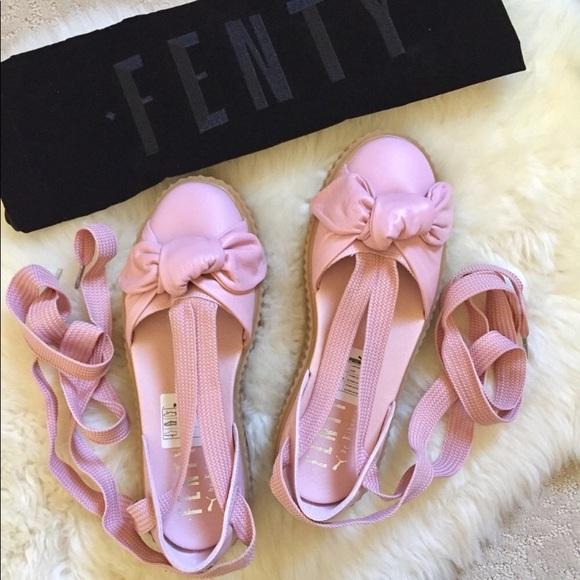 781ef762352 FENTY Puma By Rihanna Pink Bow Creeper Sandals